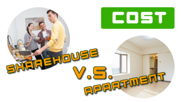 Cost comparison between rental apartments and share houses in Japan